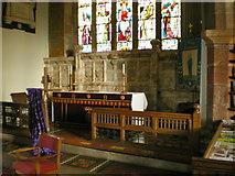 SD4983 : St Peter's Church, Heversham, Altar by Alexander P Kapp
