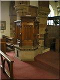 SD4983 : St Peter's Church, Heversham, Pulpit by Alexander P Kapp