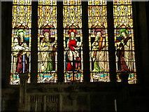 SD4983 : St Peter's Church, Heversham, Stained glass window by Alexander P Kapp