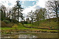 NS3884 : Pond and Castle by George Rankin