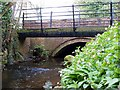 SJ7408 : Wesley Brook runs under bridges in Haughton Lane by Mike White