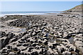 SS8873 : Eroded limestone pavement - Dunraven Bay by Mick Lobb