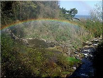 SS7249 : Rainbow over West Lyn River by Rob Farrow