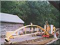 NT9338 : Narrow-gauge railway crane by Stephen Craven