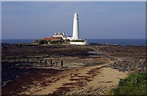 NZ3575 : St Mary's lighthouse at Whitley Bay by Steve Daniels