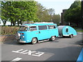 SU7106 : VW Camper van and trailer at the 2009 Havant Mayor's Rally by Basher Eyre