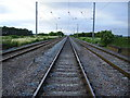 TL1986 : Looking towards Holme from Conington Level Crossing by Kenneth Yarham