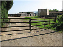 TF6303 : Bexwell Hall Farm, says the sign on the gate by Evelyn Simak