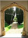 TF6303 : St Mary's church - view from the south porch by Evelyn Simak