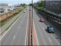 TQ7769 : A289 Pier Road beside University of Medway by David Anstiss