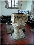SP6989 : St. Andrew's church, Foxton - font by Jonathan Billinger
