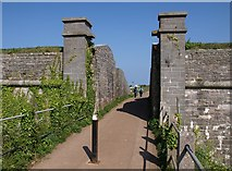 SX9456 : Entrance to Berry Head Fort by Derek Harper