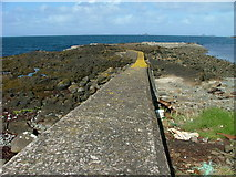 NG3670 : Breakwater at Camas Mor by Dave Fergusson