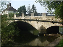 TG2407 : Nice old bridge taking the road to Trowse by Ashley Dace