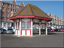 TQ7407 : Seafront shelter on De La Warr Parade near the Sailing Club by Terry Head