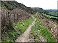 SE0538 : Hainworth - path under Lees Moor Edge by Dave Bevis