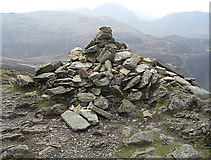 NY2014 : Summit cairn, Fleetwith Pike by michael ely