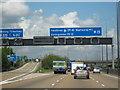 TQ0364 : M25 Motorway Clockwise. Junction 11 Slip Road by Roy Hughes