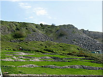 SY6873 : The Waves sculpture feature above Chesil Cove by Simon Palmer
