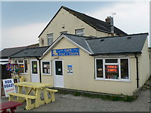 SH4356 : Chip shop on the front at Dinas Dinlle by Eirian Evans