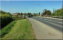 TA0256 : Beverley Road, Driffield,  crosses Hallimanwath Bridge by Peter Church
