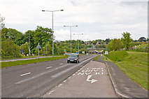 SU5707 : A32 Wickham Road about to pass beneath the M27 by Peter Facey