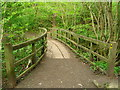 NZ0416 : Footbridge over Percy Beck by John Darch