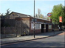 TQ3287 : Manor House tube station, main entrance by Oxyman
