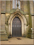 SJ9398 : St Peter's Church, Ashton-Under-Lyne, Doorway by Alexander P Kapp