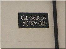 SJ9398 : Street name plaque for Old Street Circa 1876 by Alexander P Kapp