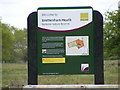 TL9386 : Brettenham Heath Nature Reserve sign by Adrian Cable