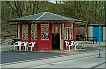 SK3455 : Woodland Refreshments, Wakebridge, Crich Tramway Village by P L Chadwick