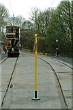 SK3455 : Single line token at Wakebridge tram stop, Crich Tramway by P L Chadwick