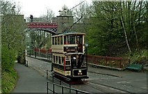 SK3455 : Sheffield tram No. 74 approaching Bowes-Lyon Bridge, Crich by P L Chadwick