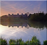 TM2863 : Framlingham Castle reflected in The Mere,at dawn. by Ian Dalgliesh