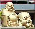 J3372 : Buddha statues, Belfast by Albert Bridge