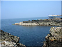 SH3494 : Cove and jetty at Wylfa Nuclear Power Station by Eric Jones