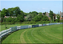 SO9095 : Boundary fence at Penn, Wolverhampton by Roger  Kidd