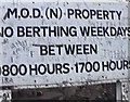 NS1994 : Graffiti on M.O.D. Sign by Gerald England