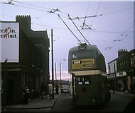 NZ5020 : Trolleybus reversing at North Ormesby by David Hillas