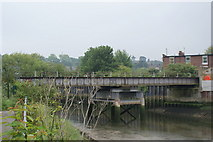 TM1543 : Old rail bridge over the Gipping by Oxymoron