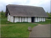 NZ3365 : Medieval building reconstruction at Bede's World by Darrin Antrobus