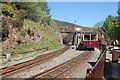 SH6441 : Tan-y-Bwlch station from the west by John Firth