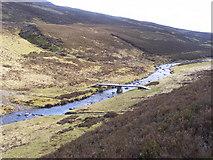 NN6664 : Footbridge at Loch Errochty by Ian
