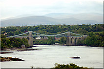 SH5571 : Menai Bridge from Anglesey by John Firth