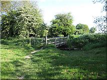 TL3949 : Footbridge south of Barrington by Hugh Venables