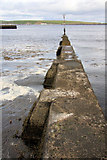 ND1268 : Breakwater at Thurso Harbour by Bob Jones