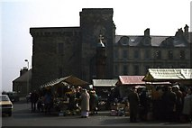 NY9364 : Moot Hall and Market Place, Easter 1974 by M J Richardson