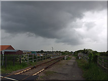 TA0623 : Barrow Haven Railway Bridge and Approaching Squall by David Wright
