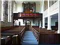 NU1034 : The nave of St. Mary's church looking westward by pam fray